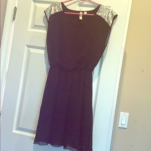 Black Dress with silver sequin size medium